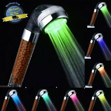 Bathroom Mineral Beads Shower Head Hand Held High Pressure Negative Ion Filter