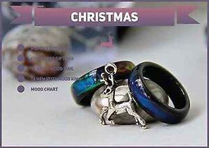 Christmas Special 1x Genuine Black Agate & 1x Hematite Mood Ring