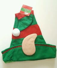 Christmas House Striped Elf Hats with Ears, 16inch 40.6cm  Green Red  USA Seller