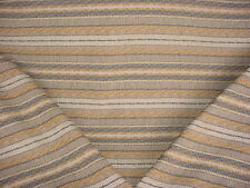 1+Y COLEFAX FOWLER EARTHY COCOA / BEIGE / GREY BLANKET STRIPE UPHOLSTERY FABRIC