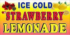 Ice Cold Strawberry Lemonade Vinyl Horizontal Banners Choose A Size Lemon Ade
