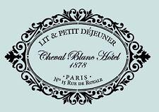 Schablone**  PARIS-Vintage **für Stoffe, Möbel,Torten,Wände, usw. ** Nr.: 759