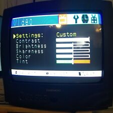 """Vintage Daewoo Dtq-13P2Fc 13"""" Color Tv Retro Gamers """"Working"""""""