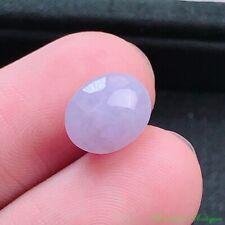 Burma Certified Grade A Ice Waxy Lavender Jadeite Loose Gemstone Cabochon #2455