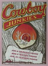 COWBOY JUNKIES ROCK CONCERT POSTER SIGNED RANDY TUTEN