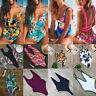 Women Floral Bikini Monokini One Piece Swimsuit Padded Bra Swimwear Beachwear AP