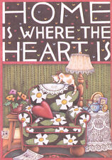 Home Is Where Heart Is-Handcrafted Fridge Magnet-Using art by Mary Engelbreit
