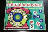 """""""Loto Téléphone pour composer des mots"""" jeu vintage FERNAND NATHAN"""