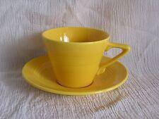 Vintage Art Deco Retro Modern Mod Cool Yellow Tea Coffee Cup & Saucer Set