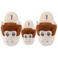 Adult Kid's Monkey Animal Plush Stuffed Slippers Winter Warm House Indoor Shoes