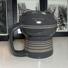 Miam-Miam Portobello Mod Heavy Gray Ringed Ceramic Coffee Tea Mug 18 Ounces Euc