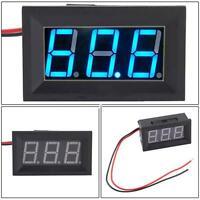 Digital Display DC 4.5-30V 2 Wire Blue LED Panel LED Voltage Meter Voltmeter BL
