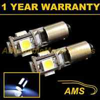 2X BA9s T4W 233 CANBUS ERROR FREE WHITE 5 LED SIDELIGHT BULBS HID SL101401