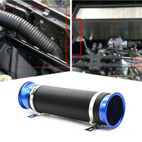 """Car 3"""" Adjustable Scalable Flexible Turbo Cold Air Intake Hose Pipe System Blue"""