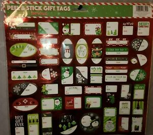 """Holiday """"Peel & Stick"""" Gift Tags - Red (100 count) - New in Package"""