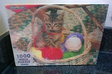 Vintage Chad Valley Jigsaw 1000 pieces Kitten In A Basket Sealed Never opened