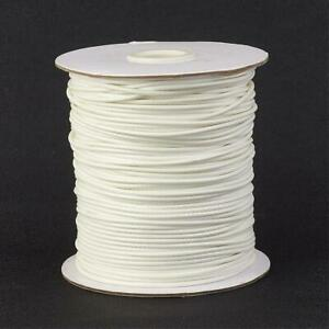 1 x White Waxed Polyester 10 Metre x 1mm Thong Cord