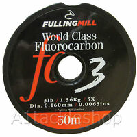 50m Fulling Mill World Class Fluorocarbon Tippet & Leader Material Fishing Line