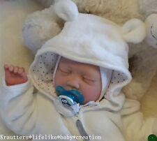 ♥*Winterbaby* Reborn Reallife Baby BS v. U.L Krautter Babypuppe Künstlerpuppe♥