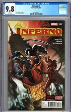 INFERNO #3 (2015) - SECRET WARS TIE-IN - JAVIER GARRON COVER - CGC 9.8 - Marvel