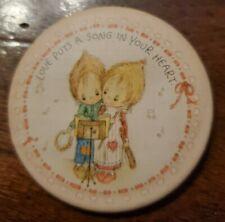 "1979 Hallmark/Betsey Clark ""Love Puts a Song in Your Heart"" Pin 2.25"" Diameter"