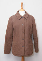 Barbour Microfibre Quilt women's light brown diamond padded country jacket uk 14