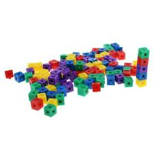 100Pcs Plastic 1cm Stacking Cubes Building Blocks Puzzles for Kids Xams Gift