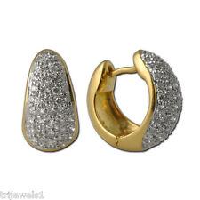 Diamond Hoop Earrings (SI2-I1, I-J) 1.00 cttw in 18K Yellow Gold JP:7833