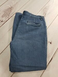 "White Stag Dark Wash Stretch Straight Relaxed Jeans Womens Waist 34"" Inseam 28"""