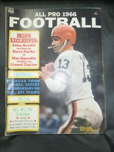 VINTAGE 1966 ALL PRO FOOTBALL MAGAZINE CLEVELAND BROWNS FRANK RYAN