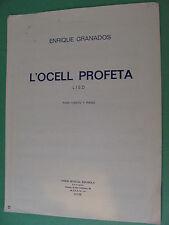 Enrique Granados Spanish lyrics sheet music L'Ocell Profeta 1972