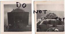 WW2 2x Photos of a Landing Craft Tank during amphibious landings