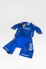 New 2017 Men's Jakroo UHC Pro Cycling Echelon SS Pocketed Skinsuit, Blue, Size S