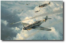 Knight of the Reich by Robert Taylor - Bf109 - WWII - Military Aviation Art