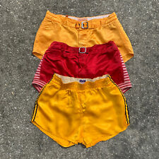 Vintage 1940s 1950s Satin Basketball Athletic Belted Gym Shorts Lot of 3