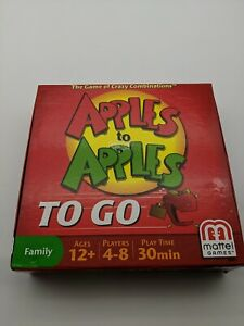 Apples To Apples To Go Travel Edition Family Card Game 2012 Mattel Ages 12+