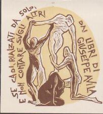 ex-libris Giuseppe avila (corps en mouvements) par leborohi, 1958