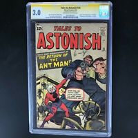 TALES to ASTONISH #35 💥 SIGNED by STAN LEE CGC 3.0 SS 💥 1ST ANT MAN in COSTUME