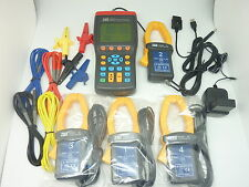 TES-3600 3 Phase Power Factor Meter Analyzer Tester True RMS w/SW made Taiwan R