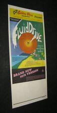 Original Australia Surfing Movie Poster Fluid Drive Scott Dittrich Skip Smith