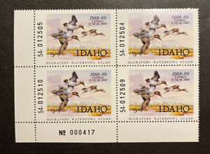 TDStamps: US Idaho Duck Stamps Mint NH OG P#Block of 4