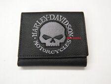Harley-Davidson® Geldbörse Portemonnaie Leder Wallet nur Karte XML6145 Skull