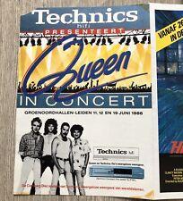 QUEEN - MAGIC TOUR CONCERT FLYER LEIDEN 1986 (lp box vinyl cd promo poster cd)