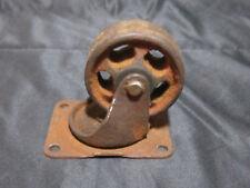 Vintage Steel & Cast Iron Industrial Swivel Caster Wheels Heavy Duty Riveted