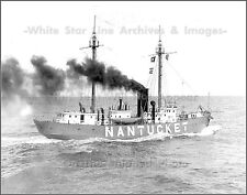 Photo: The Nantucket Lightship LV 112, Enroute To Station, 1936