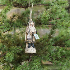 5 INCH CREAM COLOR GERMAN STYLE BELSNICKLE SANTA  ORNAMENT (AFTER  XMAS SALE !)