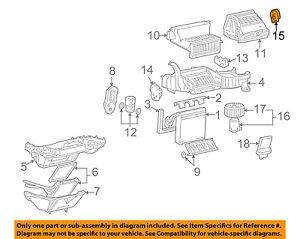 GM OEM Evaporator Heater-Actuator 15844241