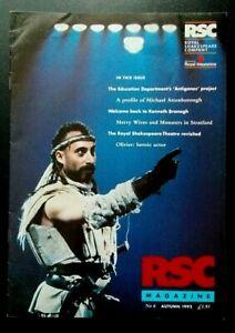 RSC Royal Shakespeare Company magazine, Autumn 1992 No. 6 Michael Attenborough