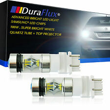 DuraFlux 3157 3156 LED Backup Reverse Light Bulbs 6000K Super White 100W 1500LM