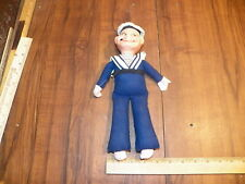 Vintage Antique S.S. Niew Amsterdam Cloth Navy Sailor Doll Toy Figure